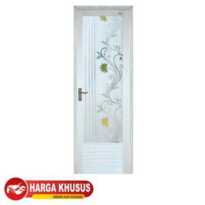 Pintu Kamar Mandi AluKa Putih Engsel Kanan