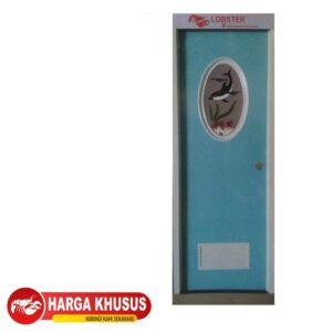 Pintu Kamar Mandi PVC Kaca Oval Hijau